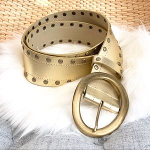 Accessories - 3/$25 Pale gold leather wide belt